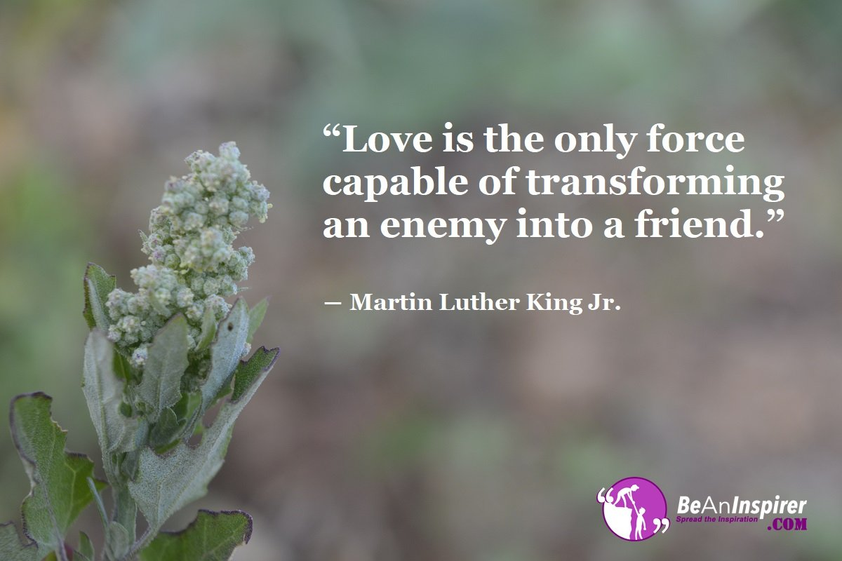 Love-is-the-only-force-capable-of-transforming-an-enemy-into-a-friend-Martin-Luther-King-Jr-Top-100-Love-Quotes-Be-An-Inspirer