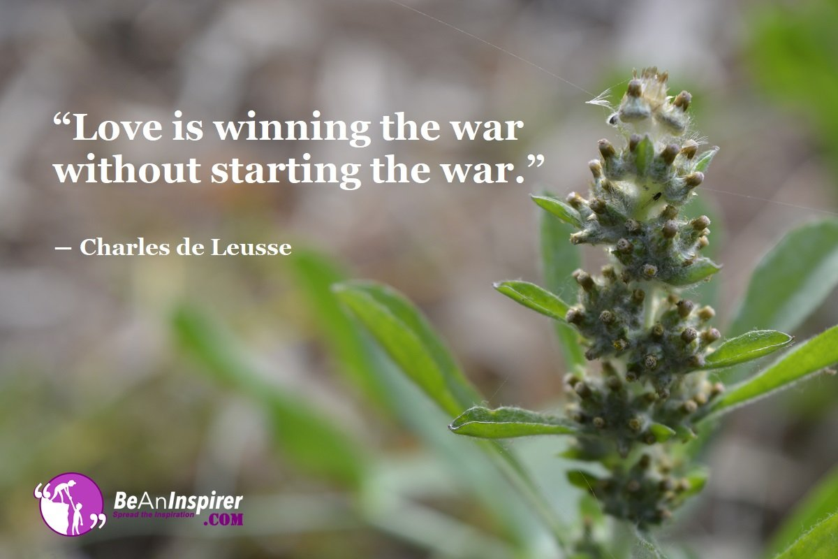 Love-is-winning-the-war-without-starting-the-war-Charles-de-Leusse-Top-100-Love-Quotes-Be-An-Inspirer
