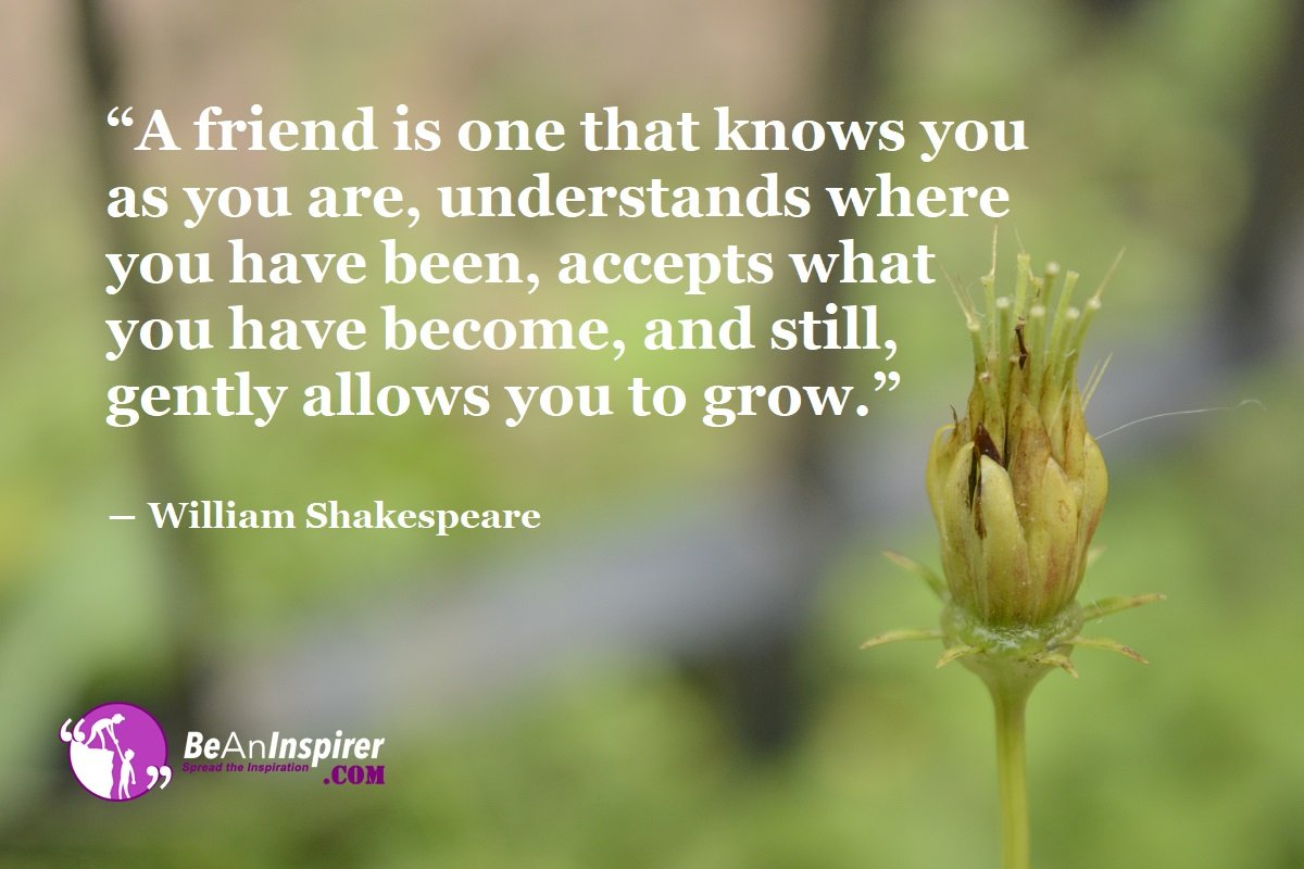 A-friend-is-one-that-knows-you-as-you-are-understands-where-you-have-been-accepts-what-you-have-become-and-still-gently-allows-you-to-grow-William-Shakespeare-Top-100-Friendship-Quotes-Be-An-