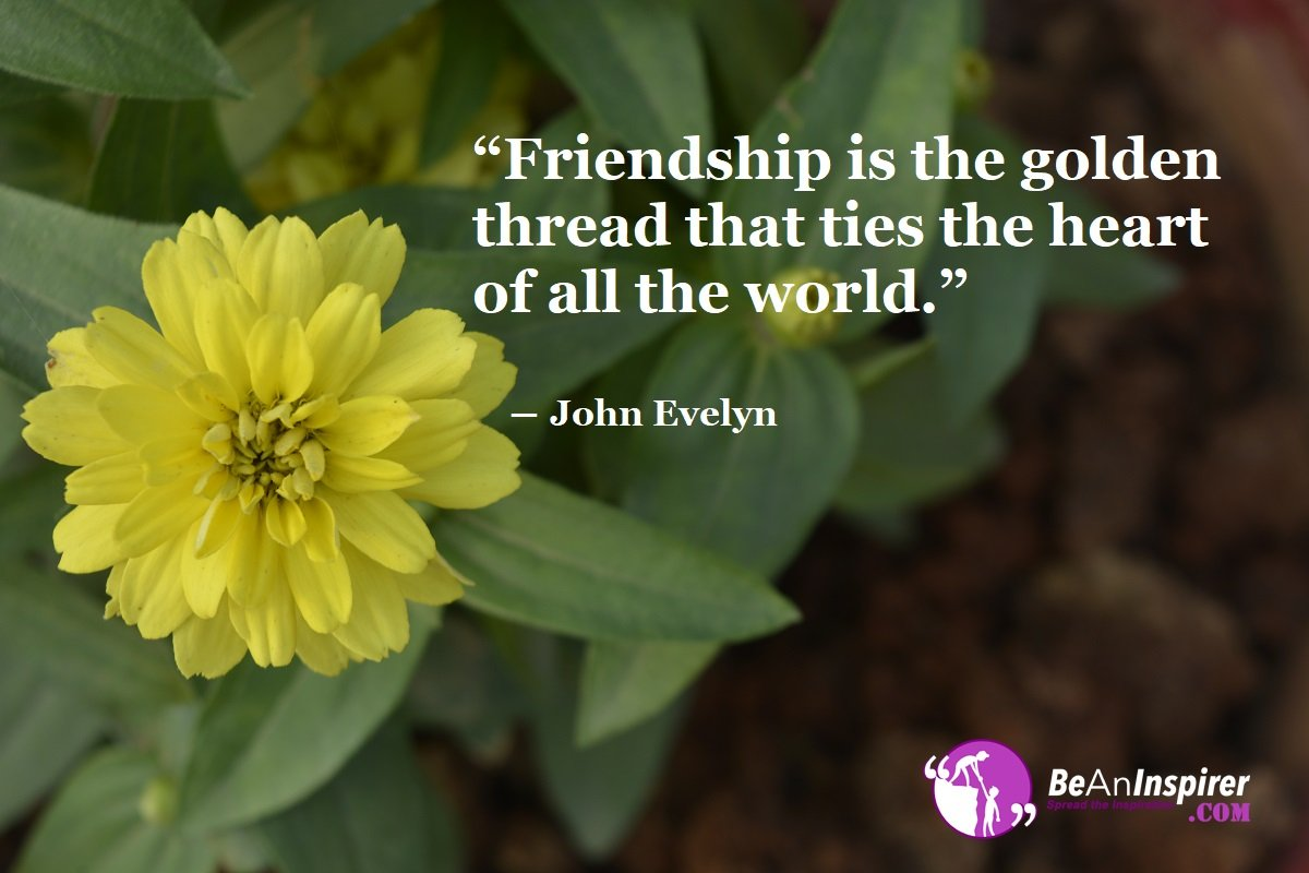 Friendship-is-the-golden-thread-that-ties-the-heart-of-all-the-world-John-Evelyn-Top-100-Friendship-Quotes-Be-An-Inspirer
