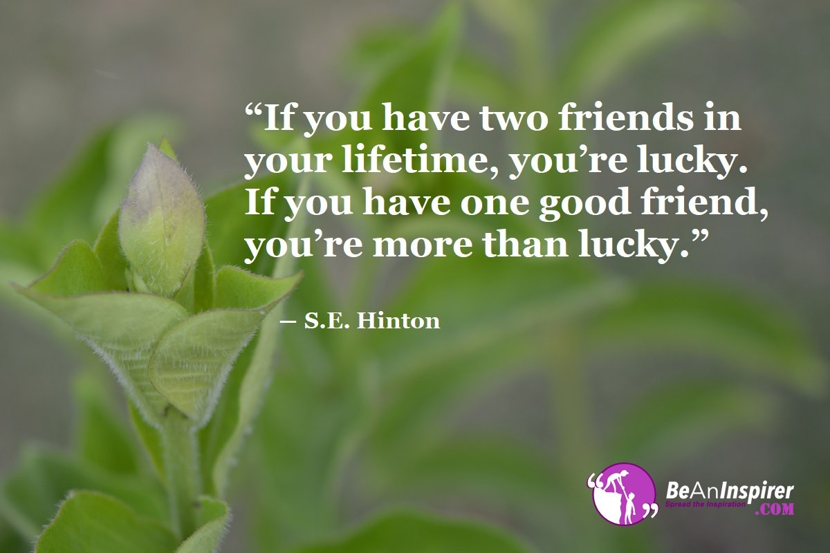 If-you-have-two-friends-in-your-lifetime-you-re-lucky-If-you-have-one-good-friend-you-re-more-than-lucky-S-E-Hinton-Top-100-Friendship-Quotes-Be-An-Inspirer