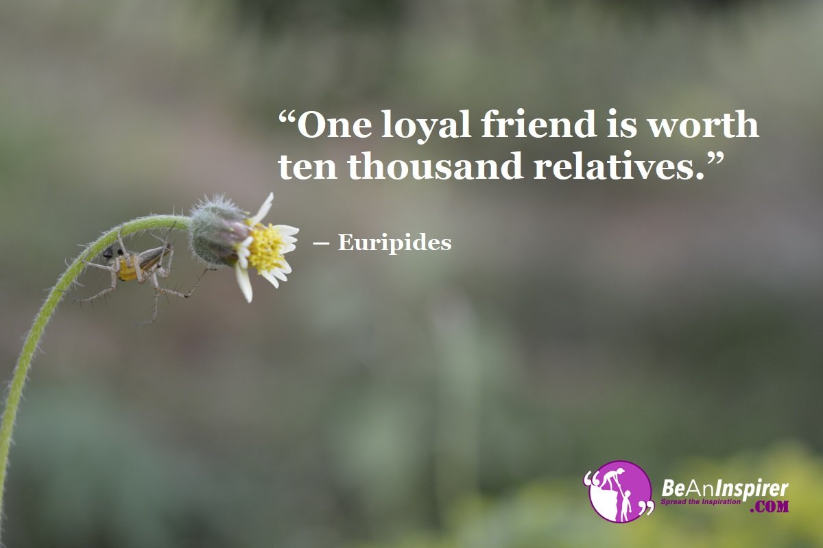 One-loyal-friend-is-worth-ten-thousand-relatives-Euripides-Top-100-Friendship-Quotes-Be-An-Inspirer