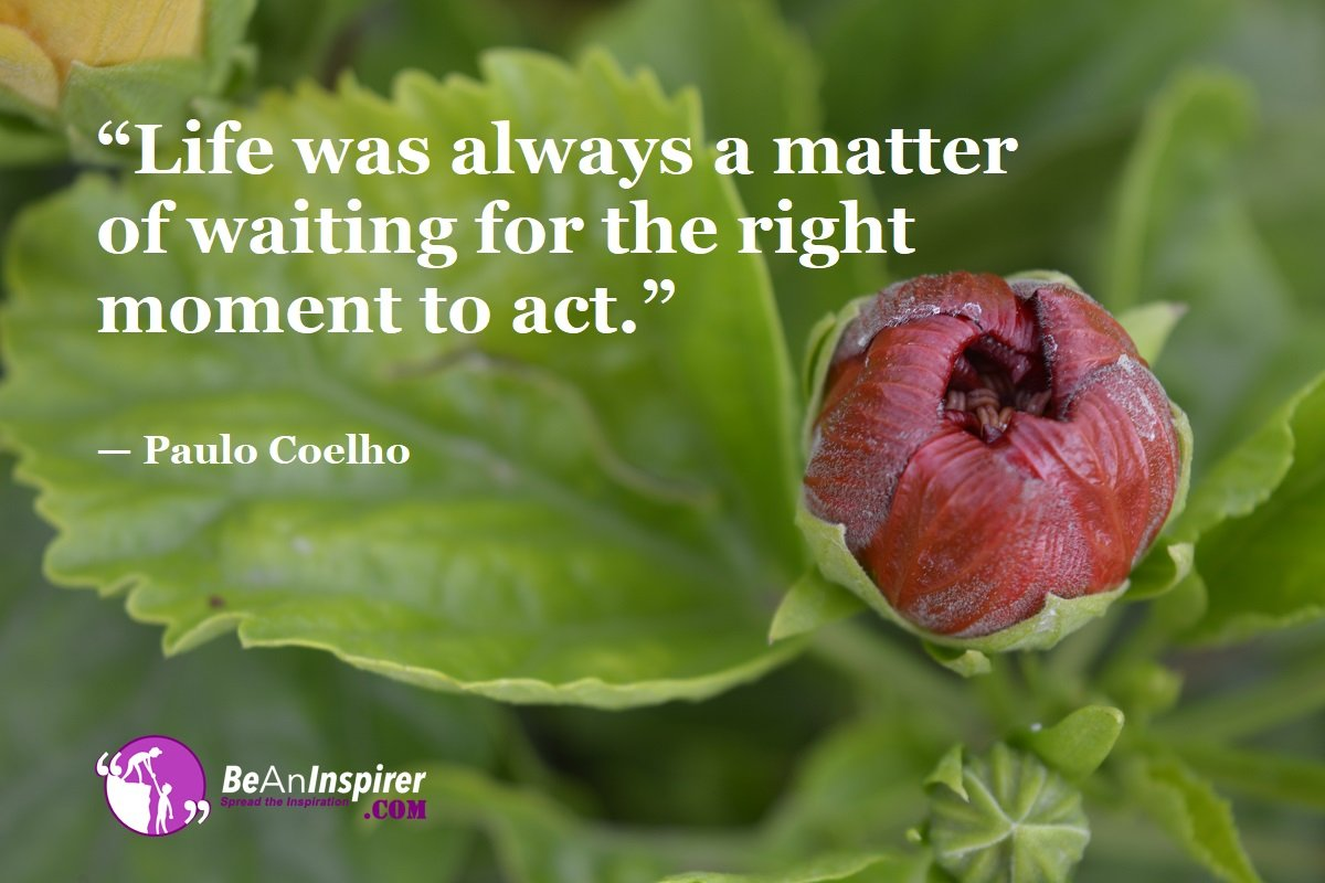 Life-was-always-a-matter-of-waiting-for-the-right-moment-to-act-Paulo-Coelho-Top-100-Life-Quotes-Be-An-Inspirer